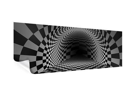 Poster Panorama Abstraktes Schachbrett