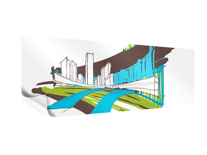 Poster Panorama Graffiti Street-Art