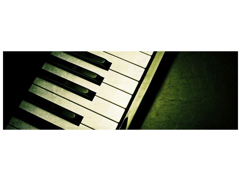 Poster Panorama Close Up Klavier