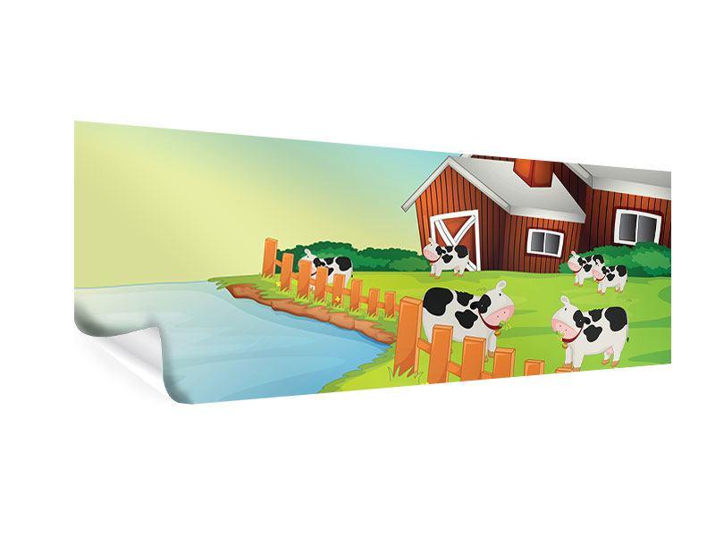Poster Panorama Eine Kuh macht Muh