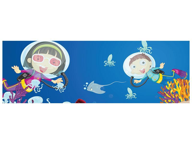 Poster Panorama Fröhliche Fische