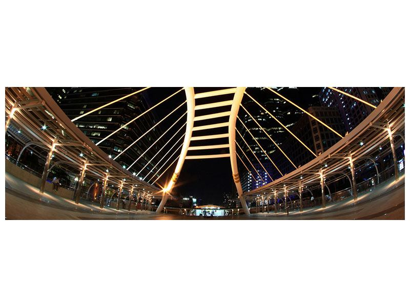 Poster Panorama Avantgardistische Brücke