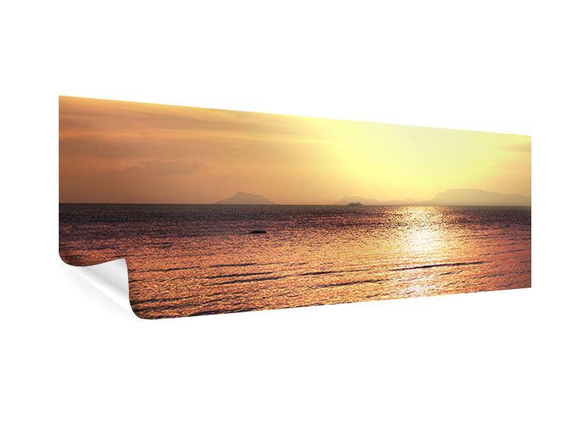 Poster Panorama Sonnenuntergang an der See