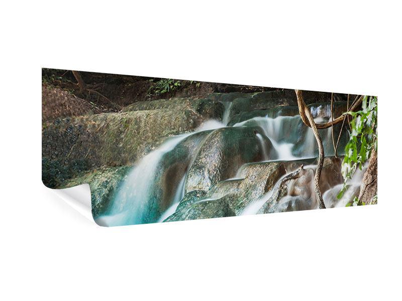 Poster Panorama Am Fluss des Lebens