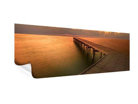 Poster Panorama Der Steg am Meer