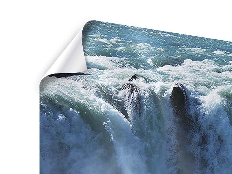 Poster Panorama Mächtiger Wasserfall