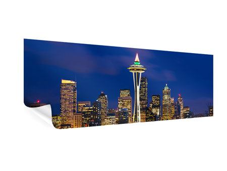Poster Panorama Skyline Seattle