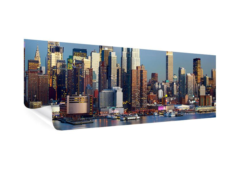 Poster Panorama Skyline Midtown Manhattan