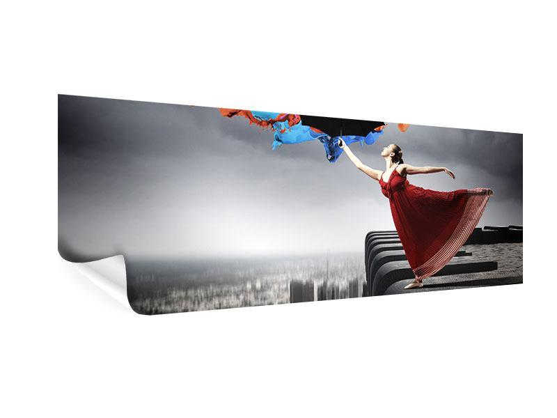 Poster Panorama Tanz auf dem Wolkenkratzer