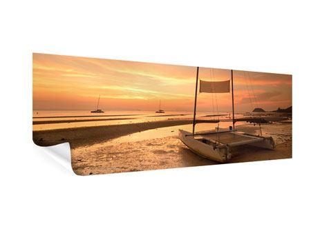Poster Panorama Sonnenuntergang am Strand