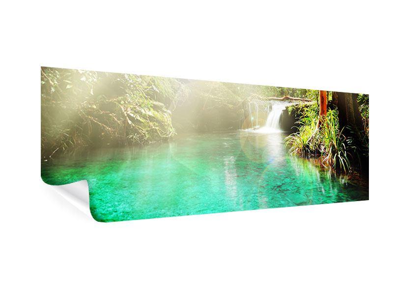 Poster Panorama Die grüne Lagune