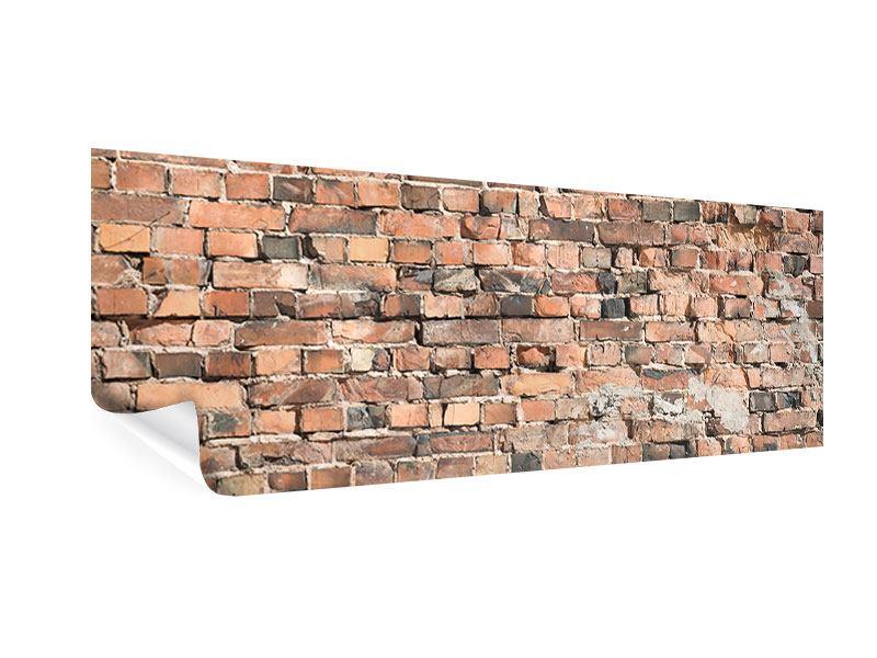 Poster Panorama Alte Backsteinmauer