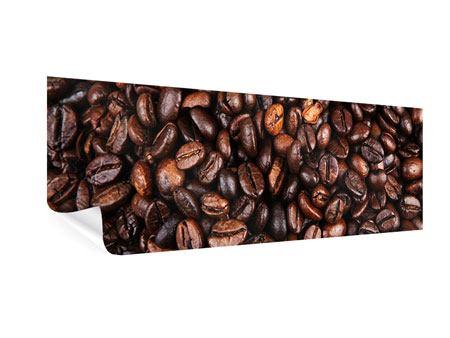 Poster Panorama Kaffeebohnen in XXL