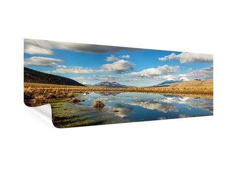 Poster Panorama Wasserspiegelung am See