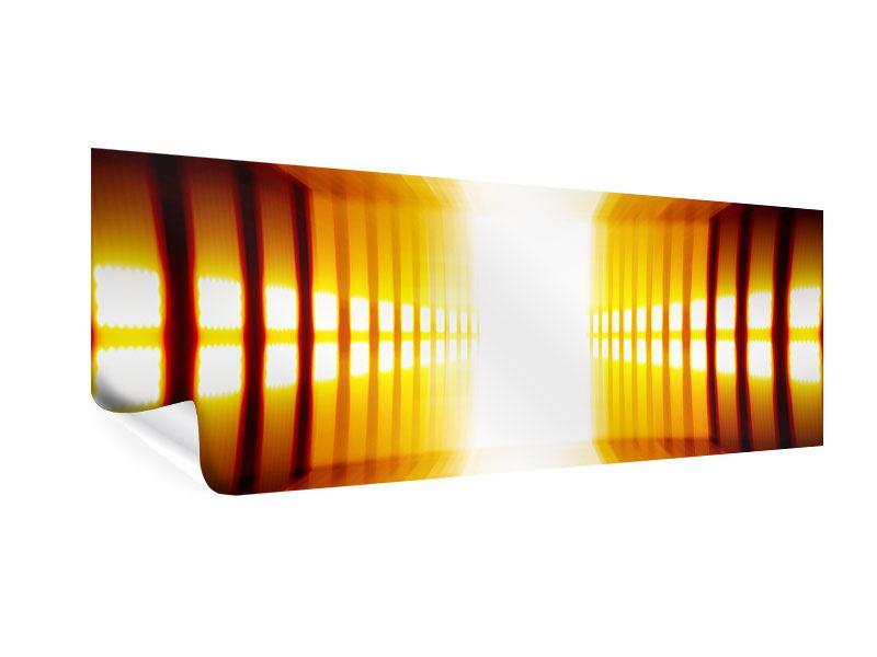 Poster Panorama Abstrakter Goldener Raum