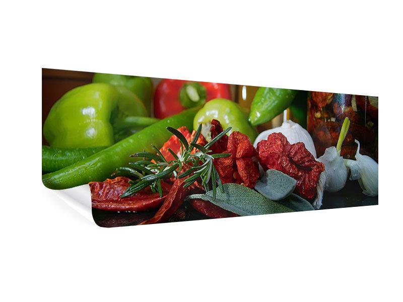Poster Panorama Mediterranes Gemüse
