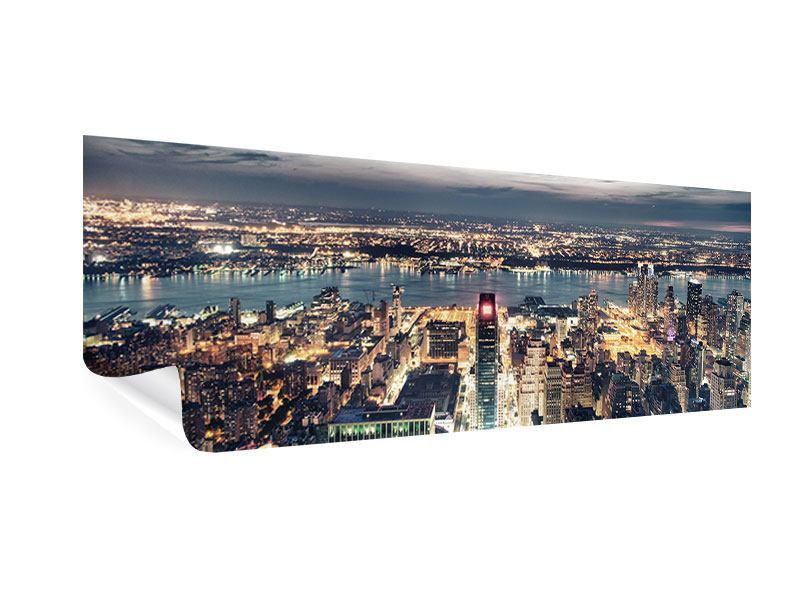 Poster Panorama Skyline Manhattan Citylights