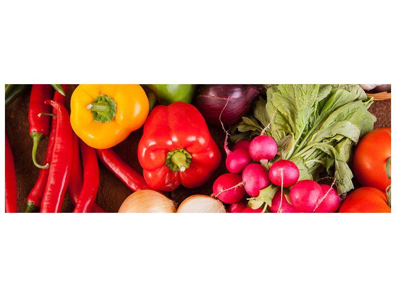 Poster Panorama Gemüsefrische
