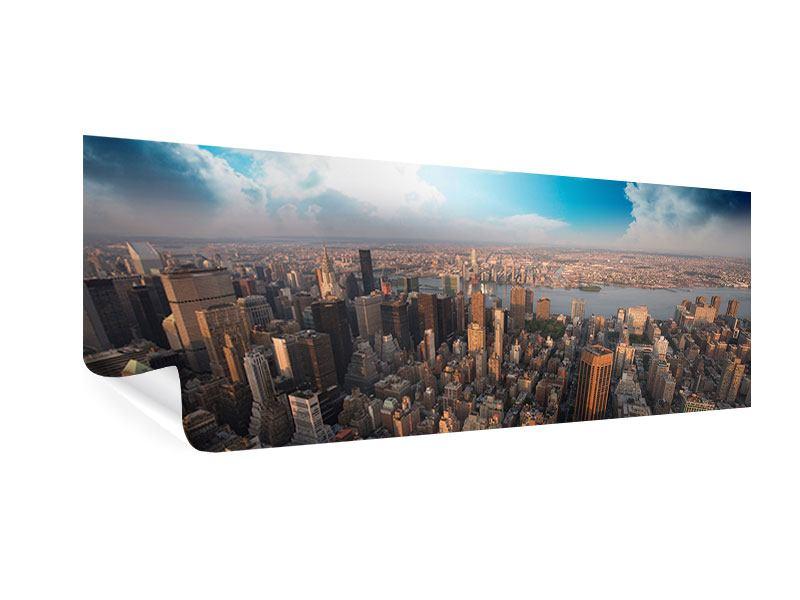 Poster Panorama Skyline Über den Dächern von Manhattan