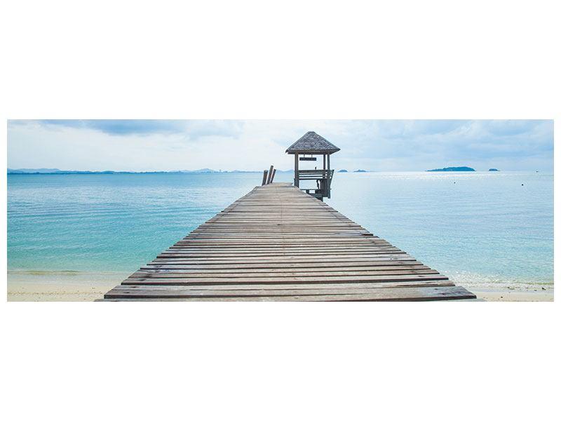 Poster Panorama Ozean-Steg