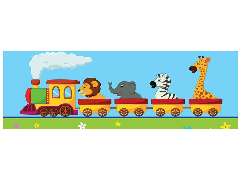 Poster Panorama Tierische Eisenbahn