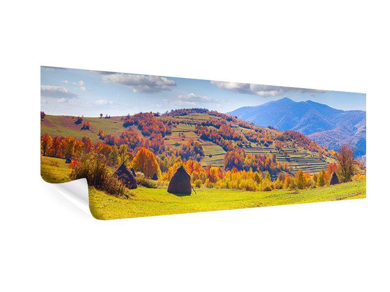 Poster Panorama Herbstliche Berglandschaft