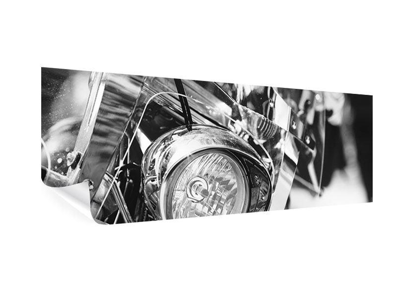 Poster Panorama Motorrad Close Up