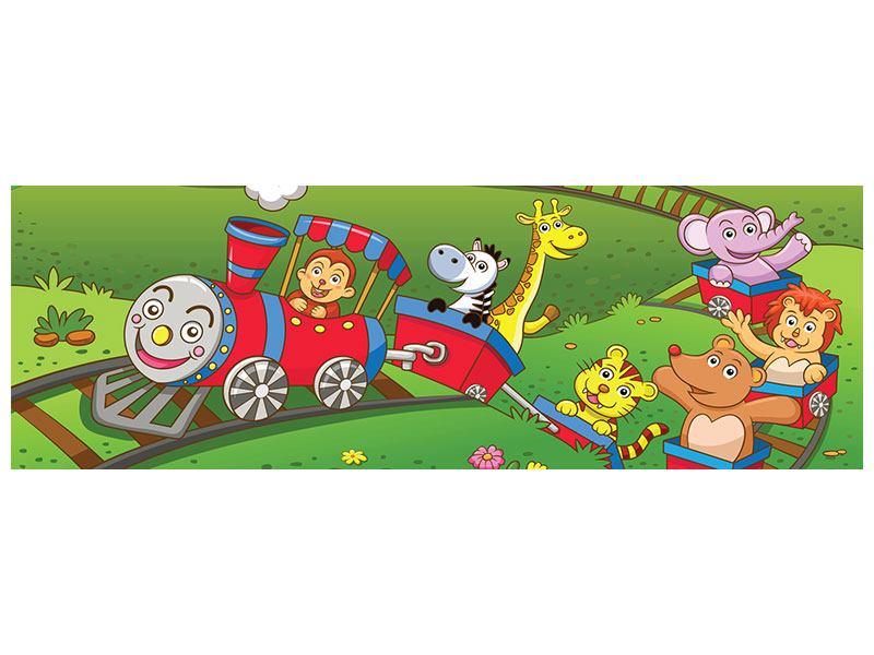 Poster Panorama Zug Tiere