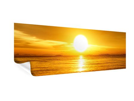 Poster Panorama Traumhafter Sonnenuntergang