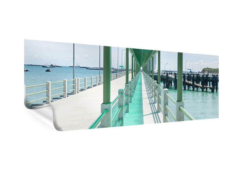 Poster Panorama Die Brücke am Meer