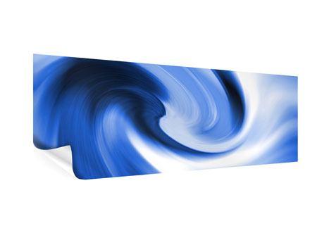 Poster Panorama Abstrakte blaue Welle