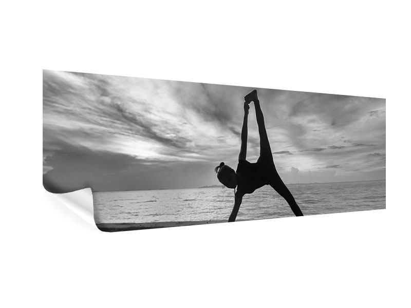 Poster Panorama Yoga am Strand