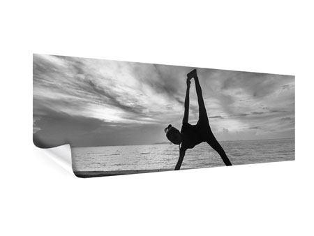Poster Panorama Yoga am Strand