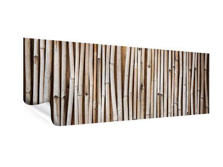 Poster Panorama Getrocknete Bambusrohre