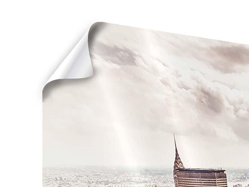 Poster Panorama Skyline Über den Dächern Manhattans