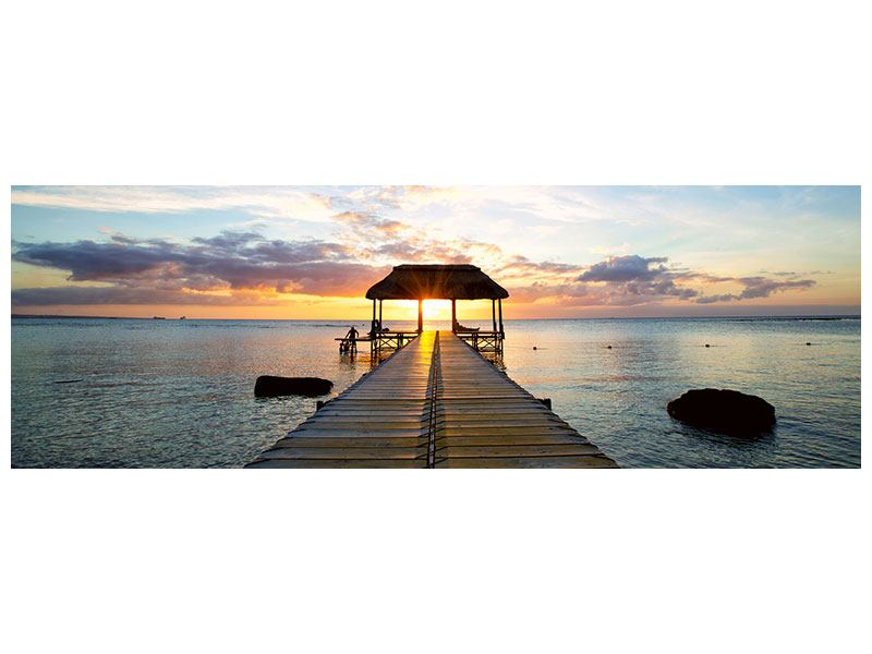 Poster Panorama Romantik auf Mauritius
