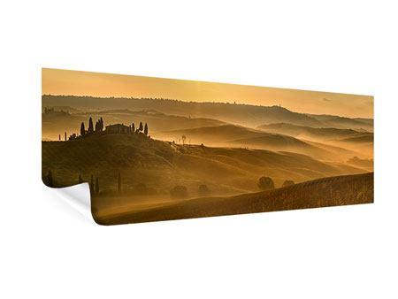 Poster Panorama Sonnenuntergang im Gebirge