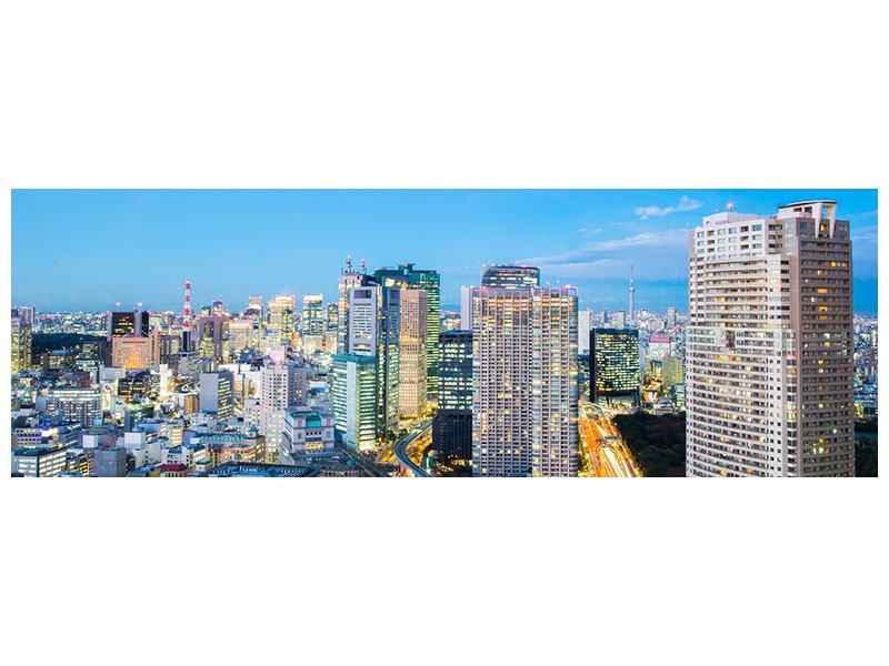 Poster Panorama Skyline Tokio im Lichtermeer