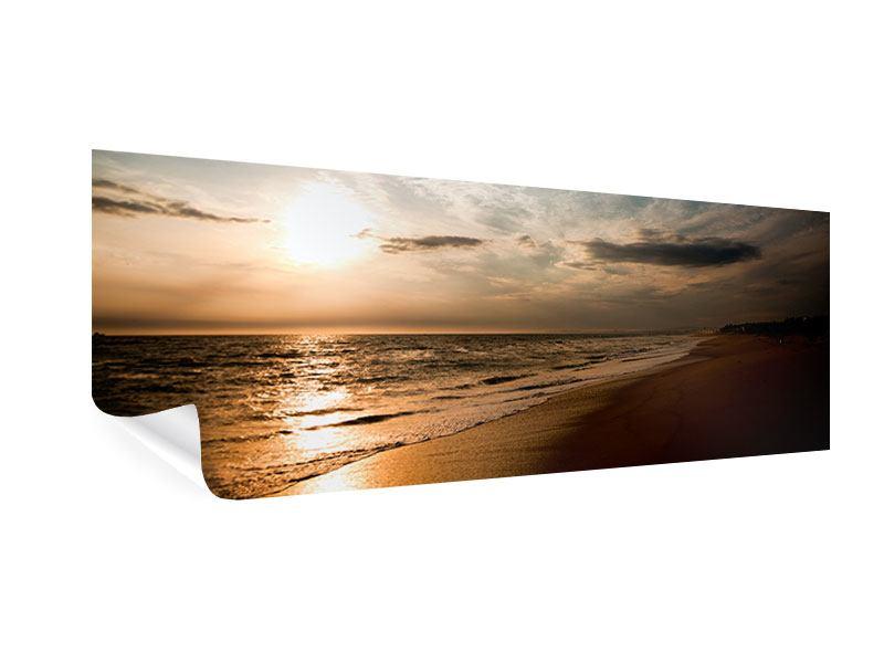 Poster Panorama Strandspaziergang