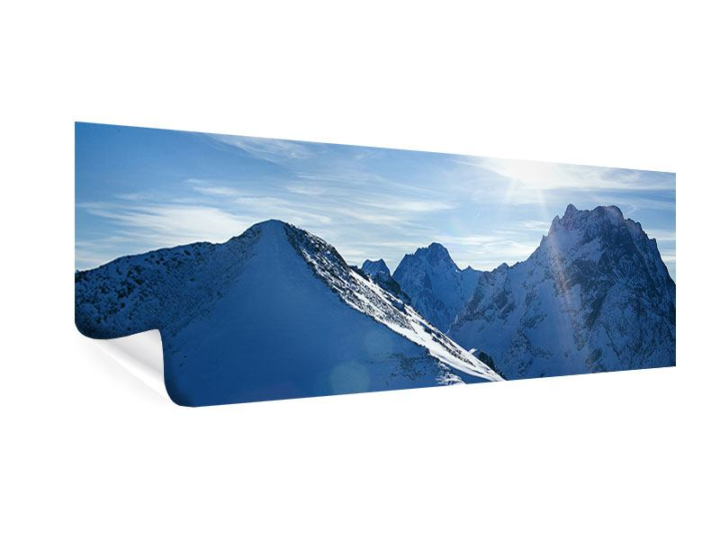 Poster Panorama Der Berg im Schnee