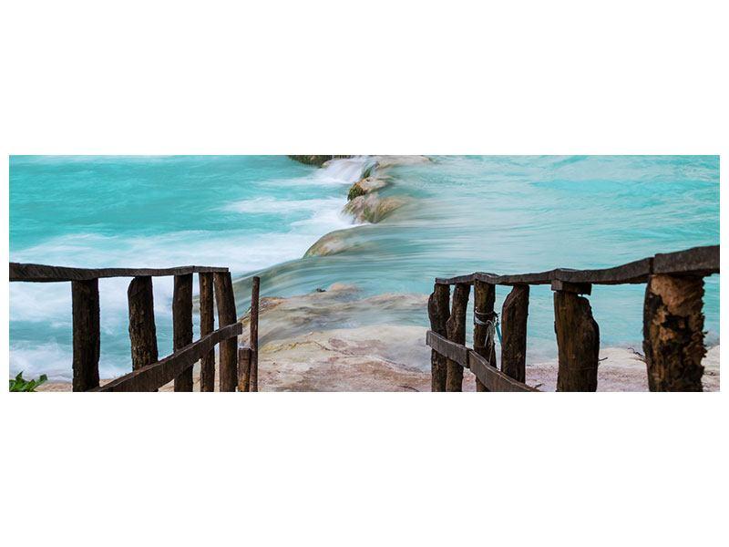 Poster Panorama Haus am Wasserfall