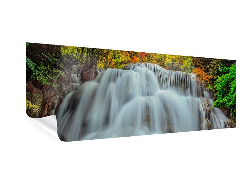 Poster Panorama Fallendes Gewässer
