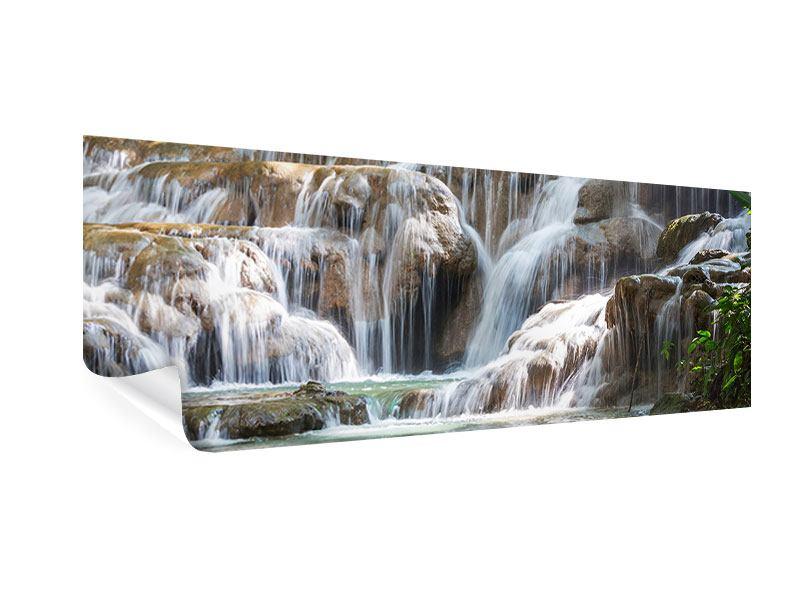 Poster Panorama Mexikanischer Wasserfall