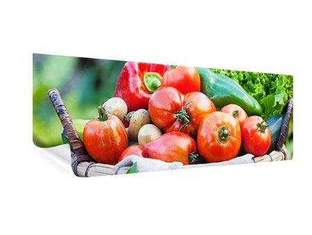 Poster Panorama Gemüsekorb