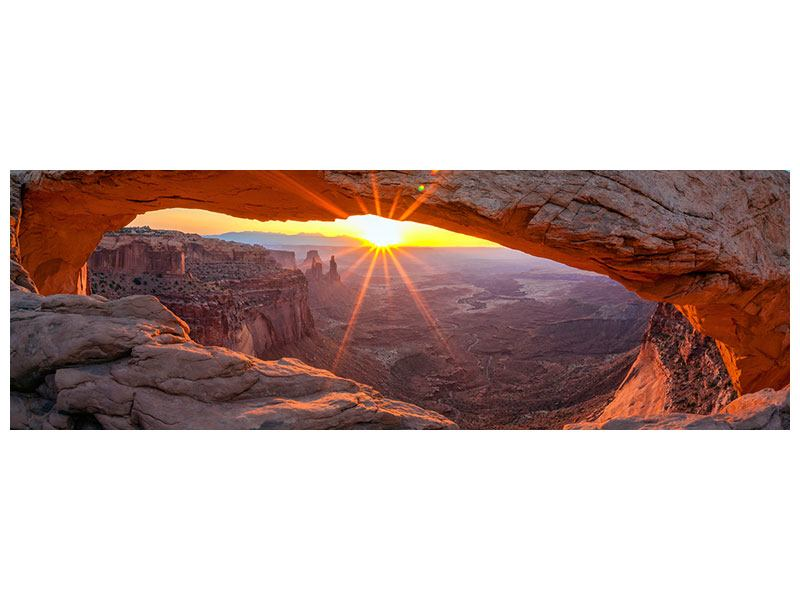 Poster Panorama Sonnenuntergang am Mesa Arch