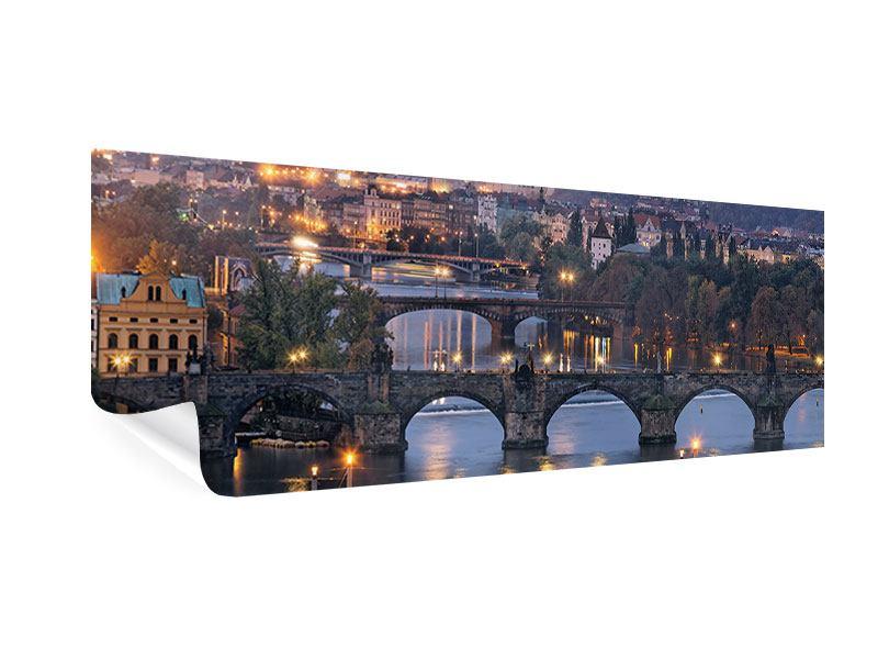 Poster Panorama Brücken in Prag