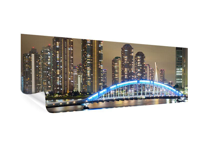 Poster Panorama Skyline Tokio in der Nacht