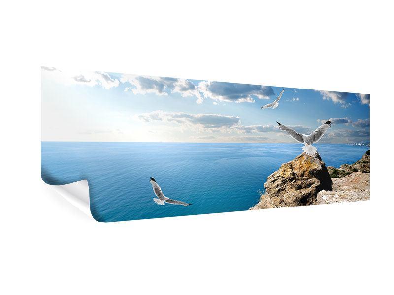 Poster Panorama Die Möwen und das Meer