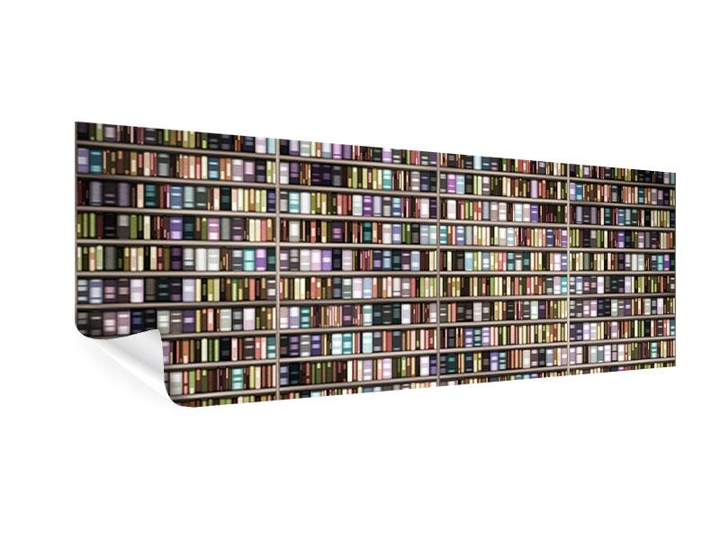 Poster Panorama Bücherregal