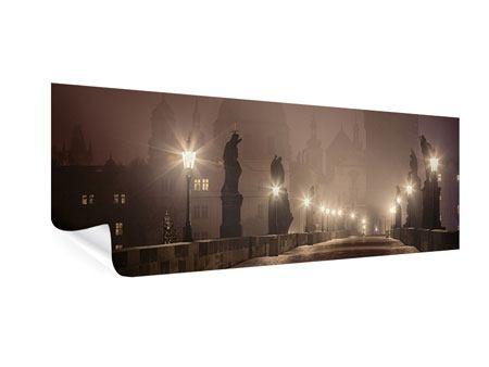 Poster Panorama Die Karlsbrücke bei Nacht